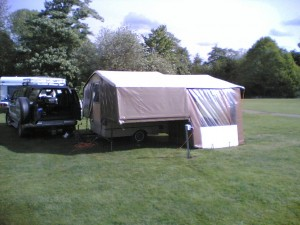 A well erected Dandy Folding Camper